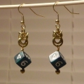 Brass Mini D6 Melinda Earrings