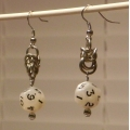 Nickel Silver Mini D12 Melinda Earrings
