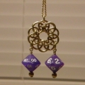Brass Circlet Pendant with double D10