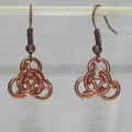 Copper Trinity Knot Earrings