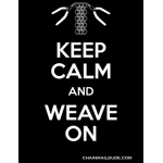 Keep Calm and Weave On T-shirt - Black, Adult Small