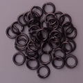 "100 ct. 16 ga Black Anodized Aluminum 5/16"" Links"