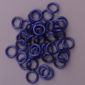 "100 ct. 16 ga Deep Blue Anodized Aluminum 1/4"" Links"
