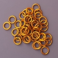 "100 ct. 16 ga Gold Anodized Aluminum 3/16"" Links"