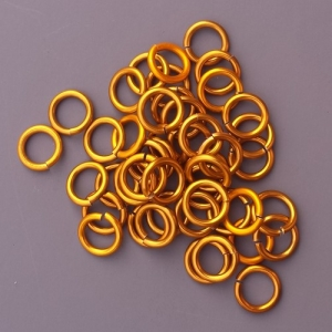 Custom Size Gold Anodized Rings