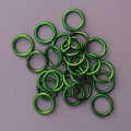 "100 ct. 16 ga Green Anodized Aluminum 1/4"" Links"
