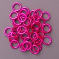 "100 ct. 16 ga Pink Anodized Aluminum 5/16"" Links"