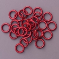 "100 ct. 16 ga Red Anodized Aluminum 1/4"" Links"