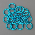 "100 ct. 16 ga Turquoise Anodized Aluminum 3/8"" Links"