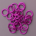 "100 ct. 16 ga Violet Anodized Aluminum 1/4"" Links"