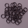 "100 ct. 18 ga Black Anodized Aluminum 1/4"" Links"