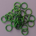 "100 ct. 18 ga Green Anodized Aluminum 1/4"" Links"