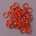 "100 ct. 18 ga Orange Anodized Aluminum 1/4"" Links"