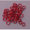 "100 ct. 18 ga Red Anodized Aluminum 9/64"" Links"