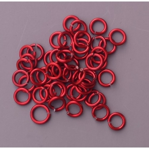 "100 ct. 18 ga Red Anodized Aluminum 7/32"" Links"