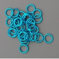 "100 ct. 18 ga Turquoise Anodized Aluminum 9/64"" Links"