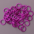 "100 ct. 18 ga Violet Anodized Aluminum 9/64"" Links"