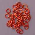 "100 ct. 20 ga Orange Anodized Aluminum 3/16"" Links"