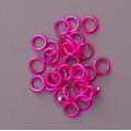 "100 ct. 20 ga Pink Anodized Aluminum 1/8"" Links"