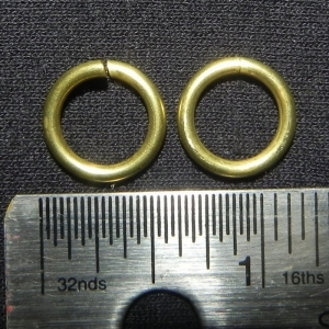 "100 ct. 14 ga Brass 3/8"" Links"