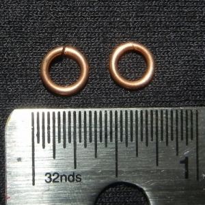 "100 ct. 18A ga Copper 3/16"" Links"
