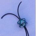 D20 stop and Leather Drawstring